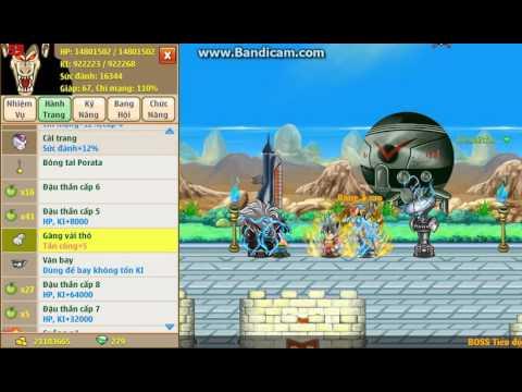 Ngọc Rồng Online : Cướp Ngọc Rồng Đen Chiến Max Ngọc Phù 17tr Hp
