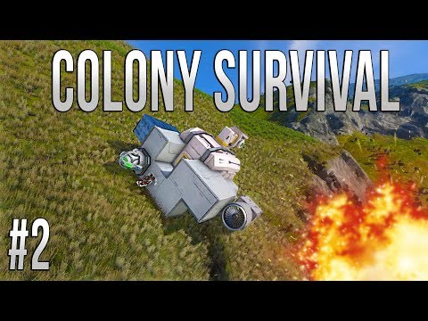 Space Engineers - Colony Survival - Ep #2 - CRASHED SHIP!
