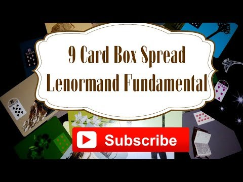 Lenormand Reading   9 card spread   Box spread