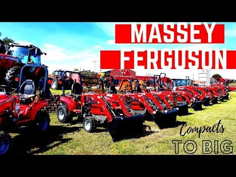 Massey Ferguson Product Lineup At Merz Farm Equipment - From Big To Small We Have Them All!