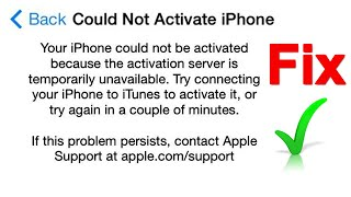 could not activate iphone | iphone activation error | your phone could not be activated Fix