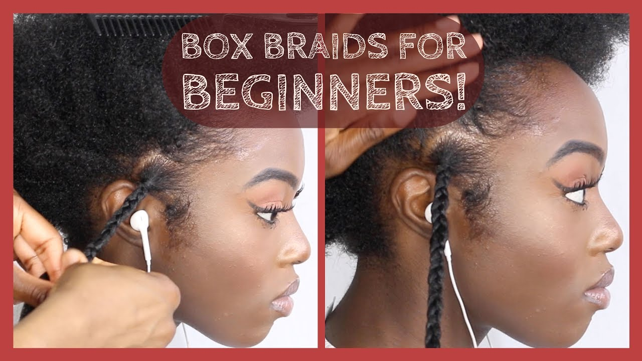 How To Box Braids Single Plaits With Extensions FOR BEGINNERS DETAILED