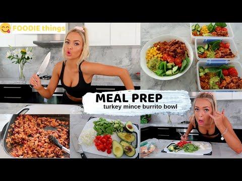 HEALTHY MEAL PREP - Turkey Mince Burrito Bowl / FOODIE Things