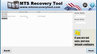 Working with MTS Recovery Tool