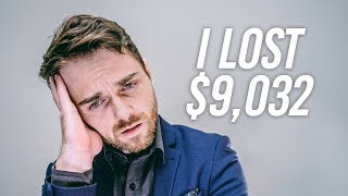 I lost $9,032 in the Stock Market - Dividend Investing with Robinhood