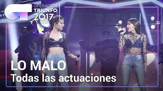 Todas las actuaciones de LO MALO, de **AITANA WAR**  | OT 2017