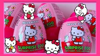 SUPER CUTE PINK UNBOXING | Hello Kitty Surprise Eggs Toys | ハローキティ| 凯蒂猫扭蛋 | Sanrio サンリオ