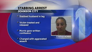 Johnson City woman, arrested; charged after allegedly stabbing husband