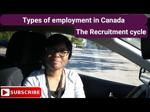 Types Of Employment In Canada/ Job Recruitment Cycle