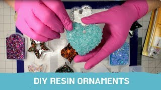 How to Make Glitter Resin Holiday Ornaments: Step-by-Step for Beginners