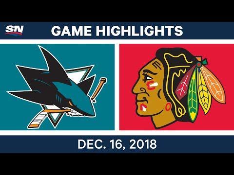 NHL Highlights | Sharks vs. Blackhawks - Dec 16, 2018