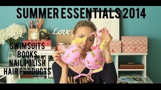 Summer Essentials 2014 - Swimsuits, nails, books & hair products! Thumbnail