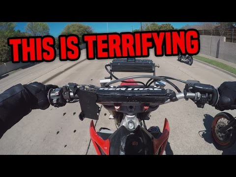 FIRST RIDE on a HONDA CRF450 SUPERMOTO