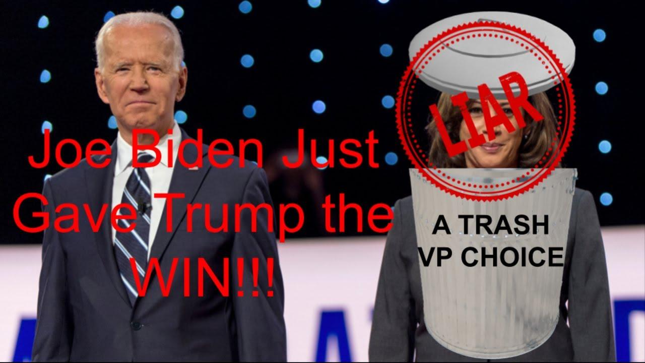 Biden Just Gave Trump the Win by Making Kamala Harris his VP!!!
