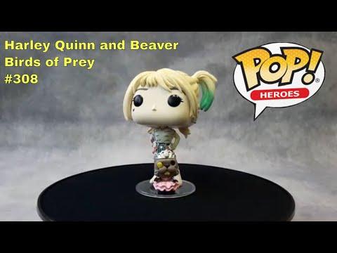 Heroes Birds of Prey #308 Harley Quinn and Beaver Funko POP