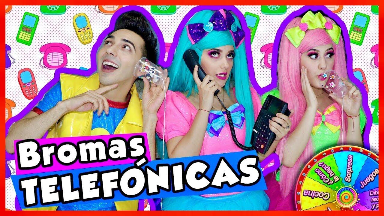 BROMAS TELEFÓNICAS / SHOW PIEDRA PAPEL O TIJERA / TELÉFONO DESCOMPUESTO CON VASOS / TELÉFONO CASERO