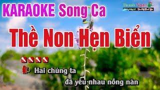 Thề Non Hẹn Biển Karaoke (Song Ca ) Cha Cha 2019 - Nhạc Sống Thanh Ngân