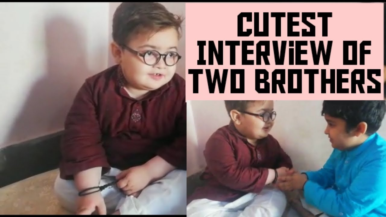 Cutest Interview of Two Brothers |Ahmad Shah | and Abubakar