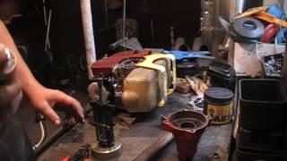 Разборка и ремонт верхнего редуктора мотокосы триммера