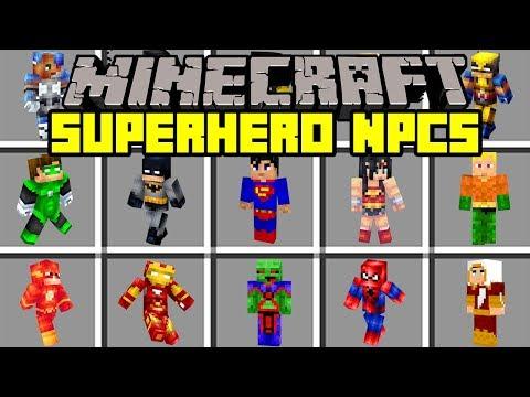 Minecraft SUPERHERO NPCS! | SUMMON THOR, FLASH, IRONMAN, & MORE! | Modded Mini-Game