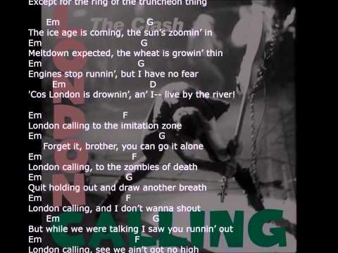 'London Calling' - with lyrics & chords - strum your ukulele along with The Clash