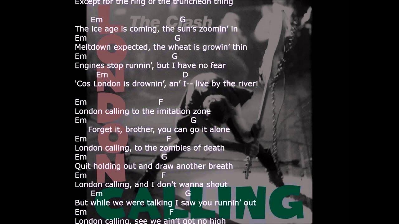 London Calling With Lyrics Chords Strum Your Ukulele Along With The Clash
