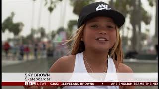 Olympic skateboarding hopeful aged just 10 (UK/(Global) - BBC News - 14th March 2019
