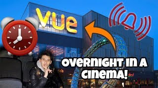 I Spent The Night In A Cinema Fort And It Was CRAZY! (Sleep In A Cinema Challenge!)