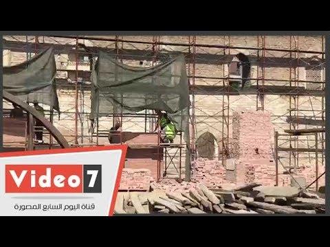 اليوم السابع :استئناف ترميم مسجد الظاهر بيبرس بعد توقف 7 سنوات