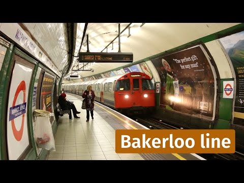 LU: Old Bakerloo line trains in Little Venice, Maida Vale and Kilburn