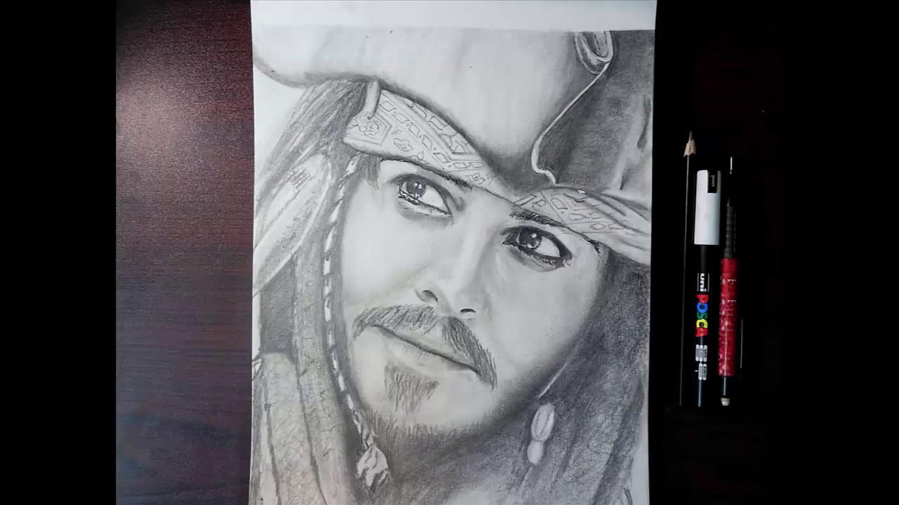 Jack Sparrow Pencil Sketch