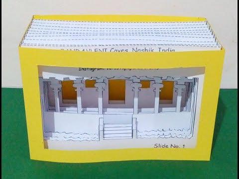Free DIY Template Papercut Light Box of Pandavleni Caves, Nashik, by Versova Hobbies