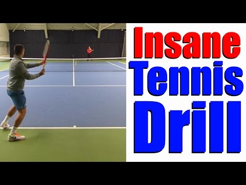 Insane Multiple Tennis Balls Drill - Online Tennis Instruction