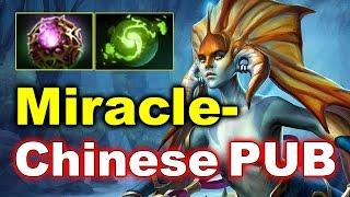 Miracle- 9180 MMR Naga vs Crit- Phoenix - Chinese PUB DOTA 2