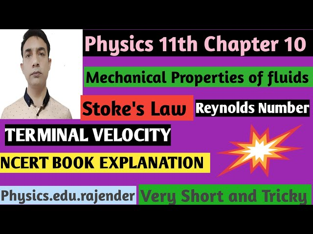Video 4 ||Physics 11th Chapter 10 ||Mechanical property of fluids ||