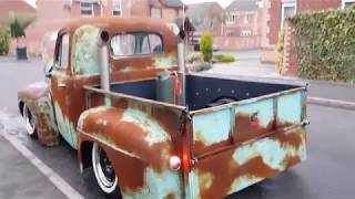 Rustypainted Cummin's Ford F1 F3 Ratrod On Air Ride