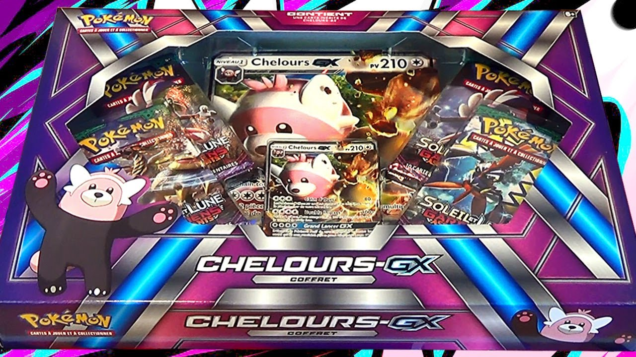 Le Calin D Ours Ouverture Du Coffret Pokemon Chelours Gx Youtube