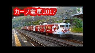 115系カープ電車2017 真夏・夕立時の富海駅を行く JR Sanyo Line