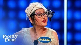 Maria Menounos vs. Jeannie Mai! Let's meet the teams! | Celebrity Family Feud Video