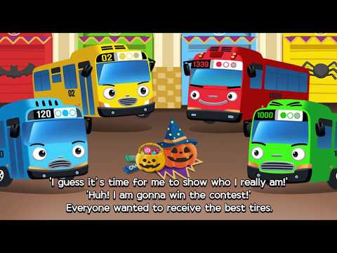 Tayo dangerous and scary halloween bus! l Story Book l Learn Street Vehicles l Tayo the Little Bus