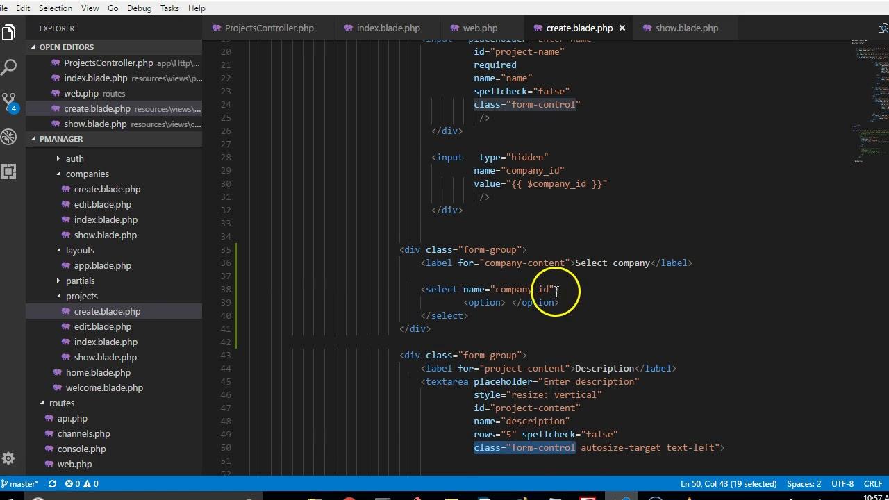 Laravel 5 5 tutorial 48 dynamic select drop down