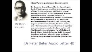 Dr. Peter David Beter Audio Letter 40 : Jonestown; Battle of Guyana; Nuclear War - November 30, 1978