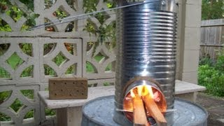 How To Make A Rocket Stove From 5 Tin Cans