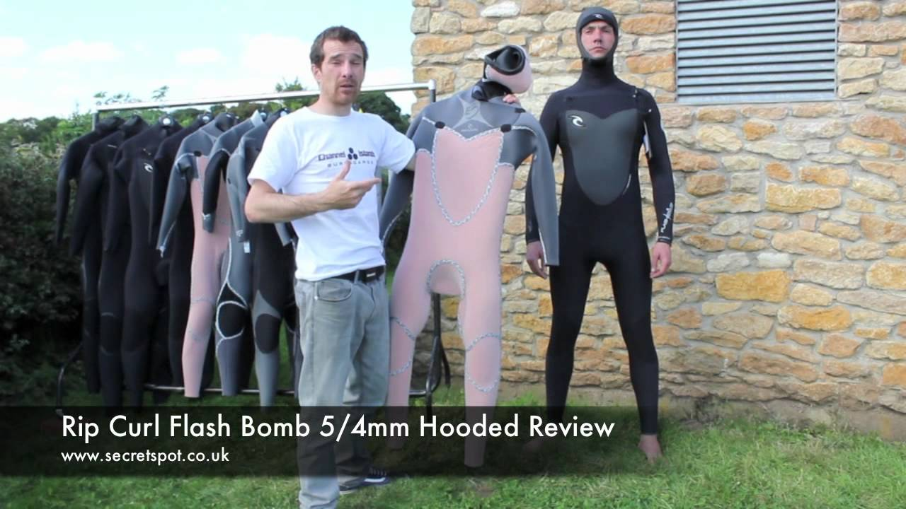 Rip Curl Flash Bomb 6 5 4mm and 5 4mm Hooded Wetsuit Review by  SecretSpot.co.uk - YouTube c7cb77ffa