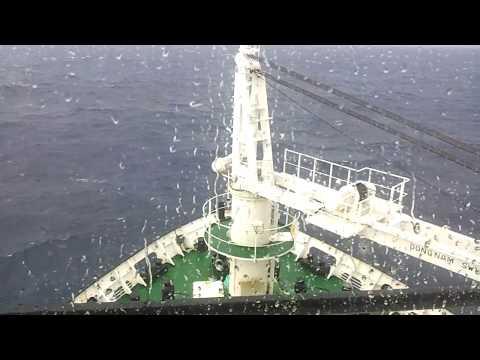 MV Kavarathi Ship Lakshadweep Ship In Rough Weather