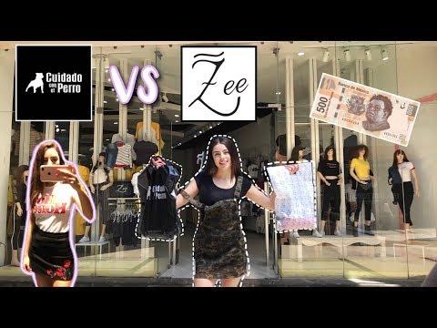 RETO $500 en Cuidado Con El Perro VS Zee / Comprando ropa barata en tiendas de México