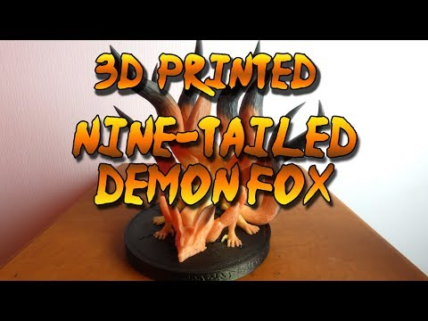 3D Printed, Thermochromatic Nine-Tailed Demon Fox