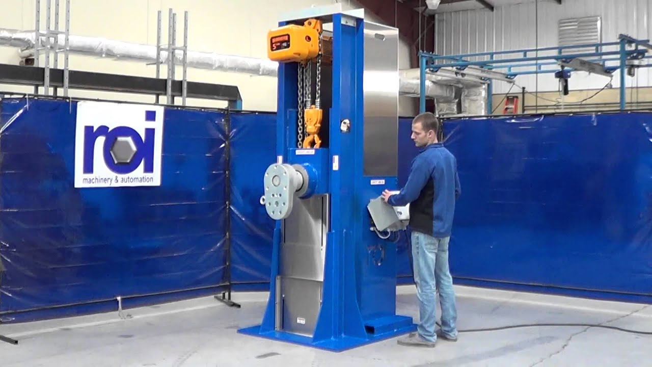 Powered Rotating Engine Stand For 8000 Lb Engine Youtube