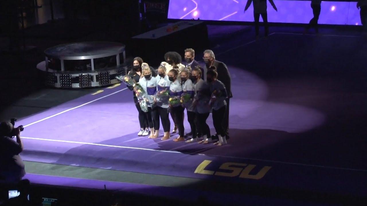 LSU Gymnastics on Senior Night
