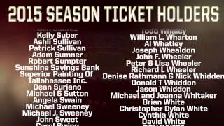 2015 FSU Football Season Ticket Holders: Part 5